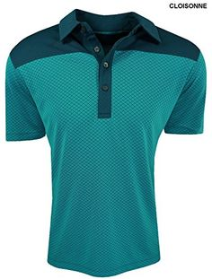 Puma Golf Mens Diamond Block Cresting Polo Shirt Small Cloisonne *** Read more  at the image link.