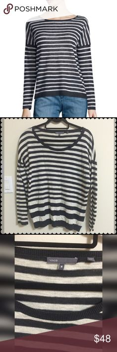 Vince womens linen sweater size medium Really nice Vince. Womens linen sweater size medium. Amazing condition Vince Sweaters Crew & Scoop Necks