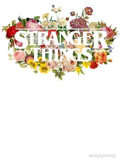 Floral Stranger Things - White