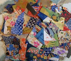 scraps of Washi paper  Washi paper - re-Pinned by HankoDesigns.Com