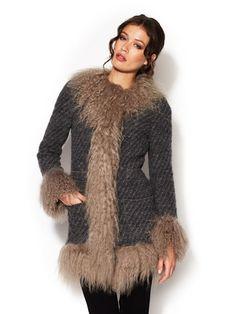 Dolce & Gabbana Wool Fringed Coat