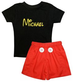 PERSONALIZED MICKEY MOUSE Suit Shorts Set by ChildrensCottage, $44.00