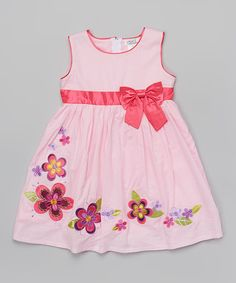 This Fuchsia Floral Bow Dress - Toddler & Girls by Littoe Potatoes is perfect! #zulilyfinds