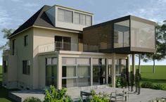 Stadtvilla, Wohnhaus, Blick von außen, Kitzig Interior Design