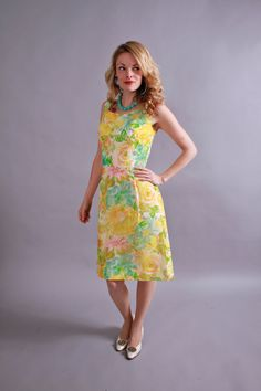 1960s dress . early 60s chiffon party dress . by coralvintage, $66.00