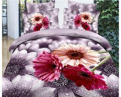 3D Duvet Cover Bedding Sets With Elegant Endless Seductive Water lotus - USD $95