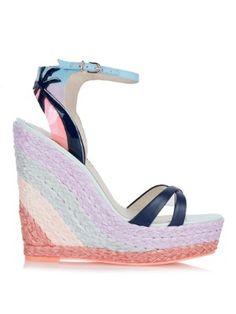 Lucita Malibu Sunrise espadrille wedge sandals by Sophia Webster