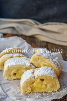 Rotolo di frolla alle mele e crema Apple Recipes, Cake Recipes, Dessert Recipes, Desserts Around The World, Just Desserts, Strudel, Torte Cake, English Food, Breakfast Cake