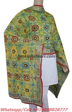 Special Chanderi Handicraft Dupatta Code- JDC1691