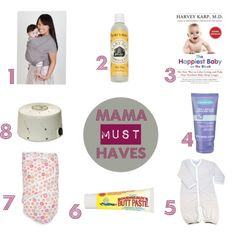 Mama Must-Haves...a simple list for baby from Dana @Hollie Baker*T #surrogacy #newborn #creativefamilyconnections