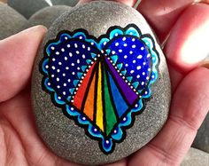 send love out / heart rocks / painted rocks / by LoveFromCapeCod