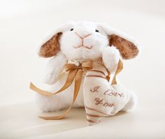 Bunny rabbit handmade with a heart Child's Room by JuliaWine