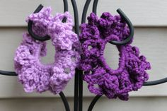 Shades of Purple Scrunchies Set of 2 by AMedleyofJen on Etsy, $6.25