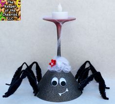 spider wine glass candle holder