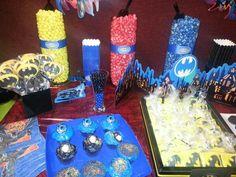 Batman sweets table
