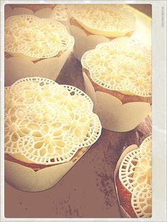 Cupcakes e rendas, tudo comestivel