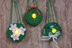Lighted Wreath Ornament - Free Pattern