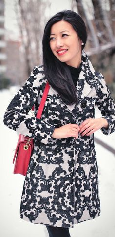 Snow Day : Anthropologie Petites Scroll Coat by Extra Petite