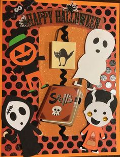 Homemade Happy Halloween card made with cricut  https://kraftygrandmascards.etsy.com/