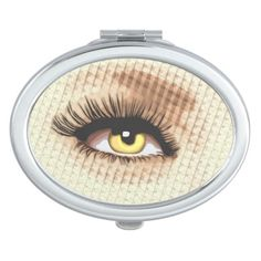 Sultry Pop Art Eye Compact Mirror