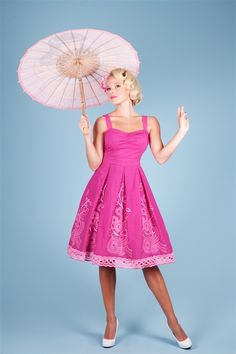 Bettie Page Think Pink Dress
