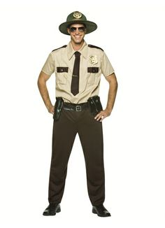 Super Troopers Sheriff Thorny, Mac, Rabbit, Foster Mens Halloween Costume