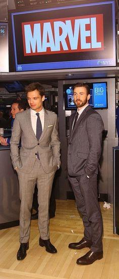 Chris Evans and Sebastian Stan at NYSE :)