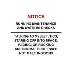 Maintenance checks...