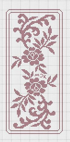 This Pin was discovered by Boż Funny Cross Stitch Patterns, Cross Stitch Borders, Cross Stitch Flowers, Easy Crochet Patterns, Crochet Designs, Cross Stitch Designs, Cross Stitching, Cross Stitch Embroidery, Doily Patterns