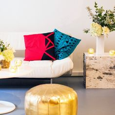 DIY Basics: Geometric Painted Throw Pillows via Brit + Co.