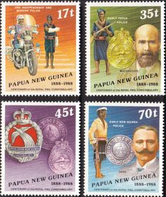 Papua New Guinea 1988 Royal Police Constabulary Set Fine Mint SG 571/4 Scott 691/4 Other European and British Commonwealth Stamps HERE!