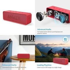 Bluetooth Speaker Portable Bluetooth Stereo Built-In Microphone For Calls