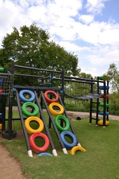 Best 8 colorful-eco-playground-made-recycled-materials – Page 460563499378471977 – SkillOfKing. Kids Outdoor Play, Kids Play Area, Backyard For Kids, Diy For Kids, Tire Playground, Outdoor Playground, Outdoor Projects, Garden Projects, Tire Craft