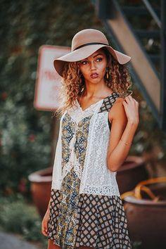boho and lace tunic glamour