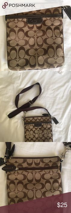 Coach crossover bag Lightly used Coach crossover bag. In excellent condition. All zippers work. Has three separate compartments. No rips/stains. Authentic. Coach Bags Crossbody Bags