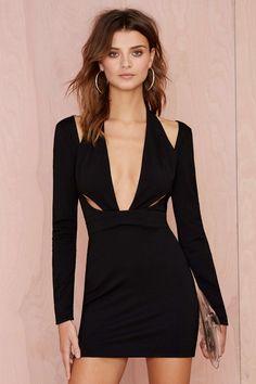 Nasty Gal Black Betty Knit Dress