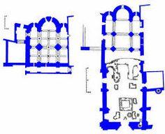 Planta de iglesia de san salvador de leyre. Consagrada en 1057