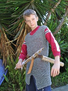 young knight knit chainmail...must make this for the boys