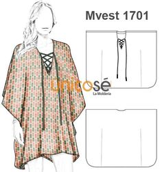 The Moldería - sewing Sewing Clothes Women, Dress Clothes For Women, Dress For Short Women, Diy Clothes, Short Dresses, Sewing Patterns Free, Dress Patterns, Sewing Blouses, Poncho
