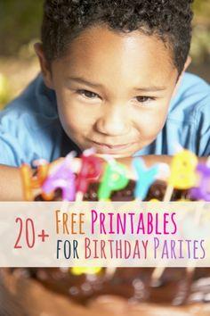 20+ Free Birthday Party Printables
