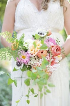 Spring bouquet: http://www.stylemepretty.com/georgia-weddings/2014/03/05/colorful-southern-wedding-in-palmetto-georgia/ | Photography: Harwell Photography - http://harwellphotography.com/