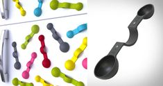 Magnetic Measuring Spoon - Never sift through a kitchen drawer for the measuring spoons again.