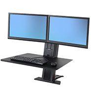 WorkFit-SR, Dual Monitor, Sit-Stand Desktop Workstation (black)