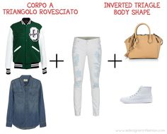 triangle body shape: easter casual look inverted