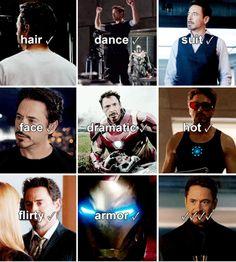 Tony Stark - all my boxes are checked.