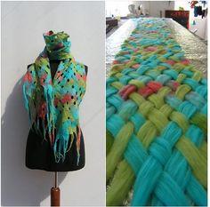 Schal filzen                                                                                                                                                                                 Mehr