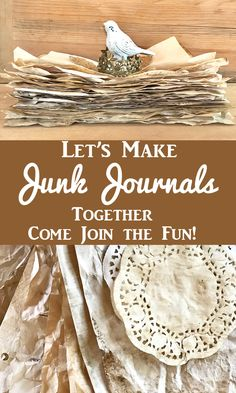 Create a Junk Journal! Come join us for this ongoing 3 month Craft Project, where you will learn techniques and tips, get Free Printable Pages and have some fun creating your own Vintage French Travel Themed Journal. By Rebecca Parsons for Graphics Fairy. Junk Journal, Journal Pages, Journal Covers, Bullet Journal, Notebook Covers, Journal Entries, Journal Prompts, Handmade Journals, Handmade Books