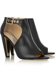 Jimmy Choo | Hasten cutout leather ankle boots | NET-A-PORTER.COM