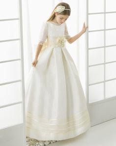 99114   vestido de comunión corte evasé