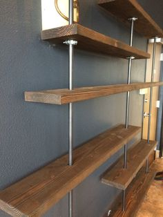 Industrial bookshelf by AllOverTheBoardCraft on Etsy